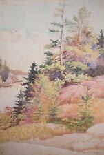 Margaret A. Jones Original California Landscape Watercolor, Listed & BEAUTIFUL!