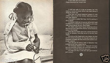 1971 LARGE 2 Pg Print Ad Bell Telephone Tele-Class child who can't go to school