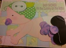Baby Shower - Pin the dummy on the baby game 20 guests unisex