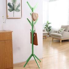 Attaccapanni Appendiabiti a Piantana in legno di Pino 8 Ganci Verde 58x58x175cm