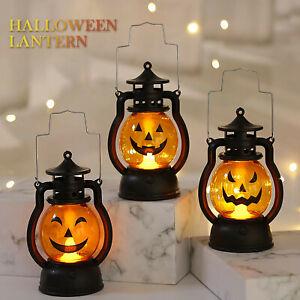 Halloween Pumpkin Lantern Retro Style LED Electronic Decorative Pumpkin Lantern