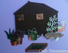 SMALL DIMENSIONAL GARDEN SHED DIE CUTS FOR CARD TOPPERS