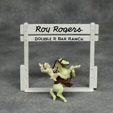 Vintage Marx Roy Rogers Play Set Mounted Figure, Horse, Tack + Ranch Gateway