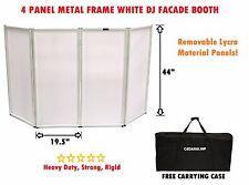 CedarsLink DJ Event Facade White Scrim Metal Frame Booth + Travel Bag Case 14LB