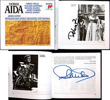 Placido Domingo & Zajick SIGNED VERDI AIDA Levine 3cd Aprile Millo Samuel Ramey