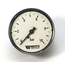 "Watts Manometer 0-10 bar | Ø 63mm | Axial 1/4"" Gewinde"