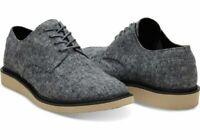 TOMS Grey Slub Textile Men's Brogues Size 10