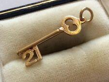 Lovely Full Hallmarked Vintage 9ct Gold ( 21 Birthday ) Gold Key Nice