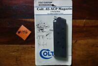 Colt 1911 Magazine 45 Auto 6 round Blued factory Officer Model OEM .45