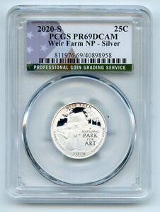 2020 S 25C Silver Weir Farm Quarter PCGS PR69DCAM