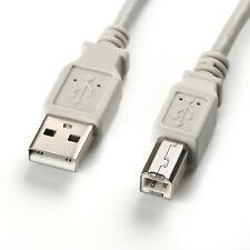 USB Kabel Stecker <> Stecker A / B  Druckerkabel  Scanner 5 Meter grau