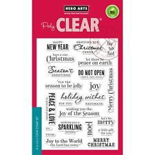 """Brand New Hero Arts """"Christmas Messages"""" Photopolymer Poly Clear Stamps"""