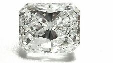 0.69ct F Color SI2 Clarity Radiant Excellent Cut Diamond.Engagement Ring Jewelry