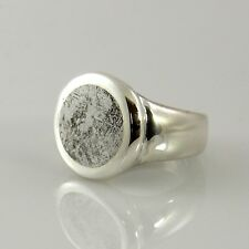 Unique Handcrafted Sterling Silver Gibeon Meteorite Ring Size 8