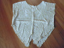 LADIES CUTE WHITE & BROWN EMBRIODERY SLEEVELESS TOP - NO LABEL SIZE 16/18 CHEAP