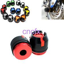 Red 12mm Front Fork Wheel Frame Slider Crash CBR250,CBR150,CBR300,MSX125,GROM125