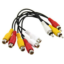 New 3 RCA Male Jack to 6 RCA Female Plug Splitter Audio Video AV Adapter Ca W7Y1