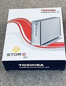 "BNWT~ TOSHIBA 500GB STORAGE ALU 3.5"" Drive, Hi Speed USB, Windows 2000/XP/Vista"