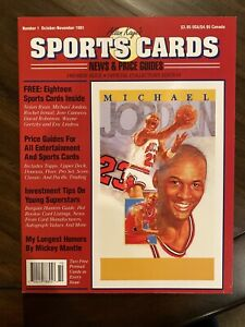 1991 Michael Jordan Cover, Sports Cards Magazine Issue #1 w/cards - RARE!