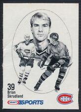 1986-87 Kraft Sports Hockey Card Brian Skrudland (Rare Blueback version)