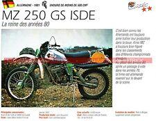 MZ 250 GS ISDE ( photo d'Harald STURM ) 1981 Fiche Moto 000221