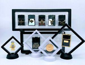 Schweberahmen Display Vitrine z.b. für Zippo Lego Münzen versch. Farben &Größen