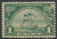 """Scott# 614 - 1924 Commemoratives - 1 cent Ship """"Nieu Nederland"""" (SD)"""