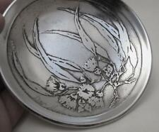 SIGNED DON SHEIL FLOWERING GUM LEAF DISH - SHEIL ABBEY - GUMLEAF AUSTRALIANA