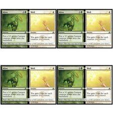 4 x ALIVE // WELL NM mtg Dragon's Maze Green / White - Sorcery Unc