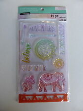 *BRAND NEW* Recollections COLOR SPLASH Stamp & Stencil Set 'Stay Wild Adventure'