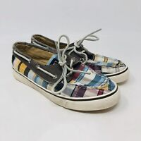 Sperry Top Sider Womens Boat Shoes 9447368 Tan Multi Color Size 6.5 Womens