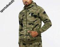 NEW NWT Men's Nike Club Full-Zip Hoodie Jacket Therma CD9186 325 CAMO