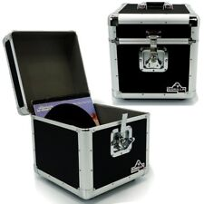 "Gorilla LP100 12"" Vinyl Record Box DJ Storage Carry Case Black Holds 100 (Pair)"