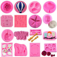 3D Silicone Mould Cake Decorating Tools Candy Chocolate Fondant Baking DIY Tool