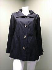 Gallery Women's Black Coat Jacket W/ Hood~Size M