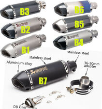 NEW Universal Motorcycle Exhaust Pipe Laser Marking Akrapovic 51mm DB killer
