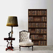 Wall Sticker Art Home Decoration Vintage Bookshelf Mural Interior