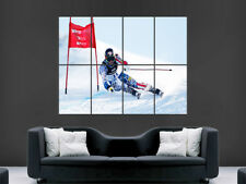 POSTER Sci Slalom GIOCHI INVERNALI SPORT ESTREMI RACING Wall Art foto di grandi dimensioni