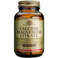 Solgar Calcium Magnesium Citrate Choice of 50 or 100 Tablets (One Supplied)