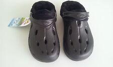 Chung Shi Duflex DUX Winter schwarz mit Fell Hausschuhe Sandale Clogs GR. 38