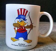 Vintage Los Angeles 1984 Olympic Games Archery Coffee Mug Sam the Eagle