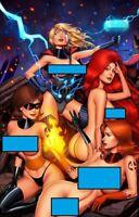 Faro's Fantastic Four -- Sue Storm - Firestar - Madusa - Elasti-Girl