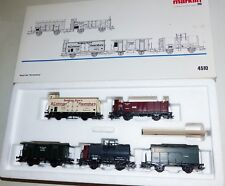 Märklin 4510 Wagon Set Württemberg 5 PC Freight Car Boxed Top H0 Kkk
