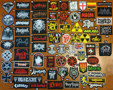 Various Rock & Metal Band Patches Part 2