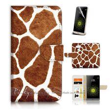 ( For LG G6 ) Wallet Case Cover P21131 Giraffe Pattern