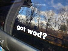 GOT WOD? decals stickers ( Crossfit ) workout of the day w.o.d.