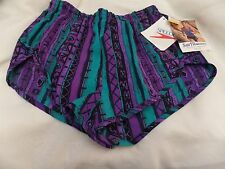 Brand New Vintage Style Speedo Surf Runner Men's Or Women's Short Black & Purple