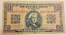 2 1/2 GULDEN 1945 P71 Wilhelmina II PAYS BAS Netherlands Billet Nederland