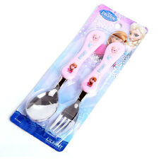 [Made In Korea] Disney Frozen Elsa Anna Spoon & Fork Flatware Utensils Mealtime