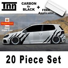 VW Polo Golf Lupo GTI GTD R Line Stripes GT Scirocco Sticker Decal Vinyl Graphic